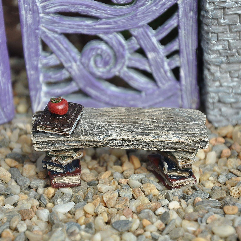 Miniature Fairy Garden Library Bench Seat