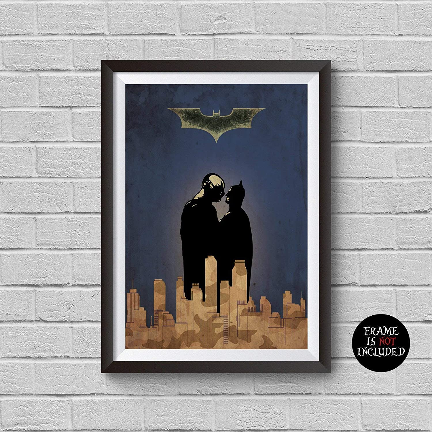 THE DARK KNIGHT BAT MOVIE POSTER FILM A4 A3 ART PRINT CINEMA