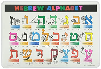 Amazon.com: Painless Learning Hebrew Alphabet Placemat: Home & Kitchen