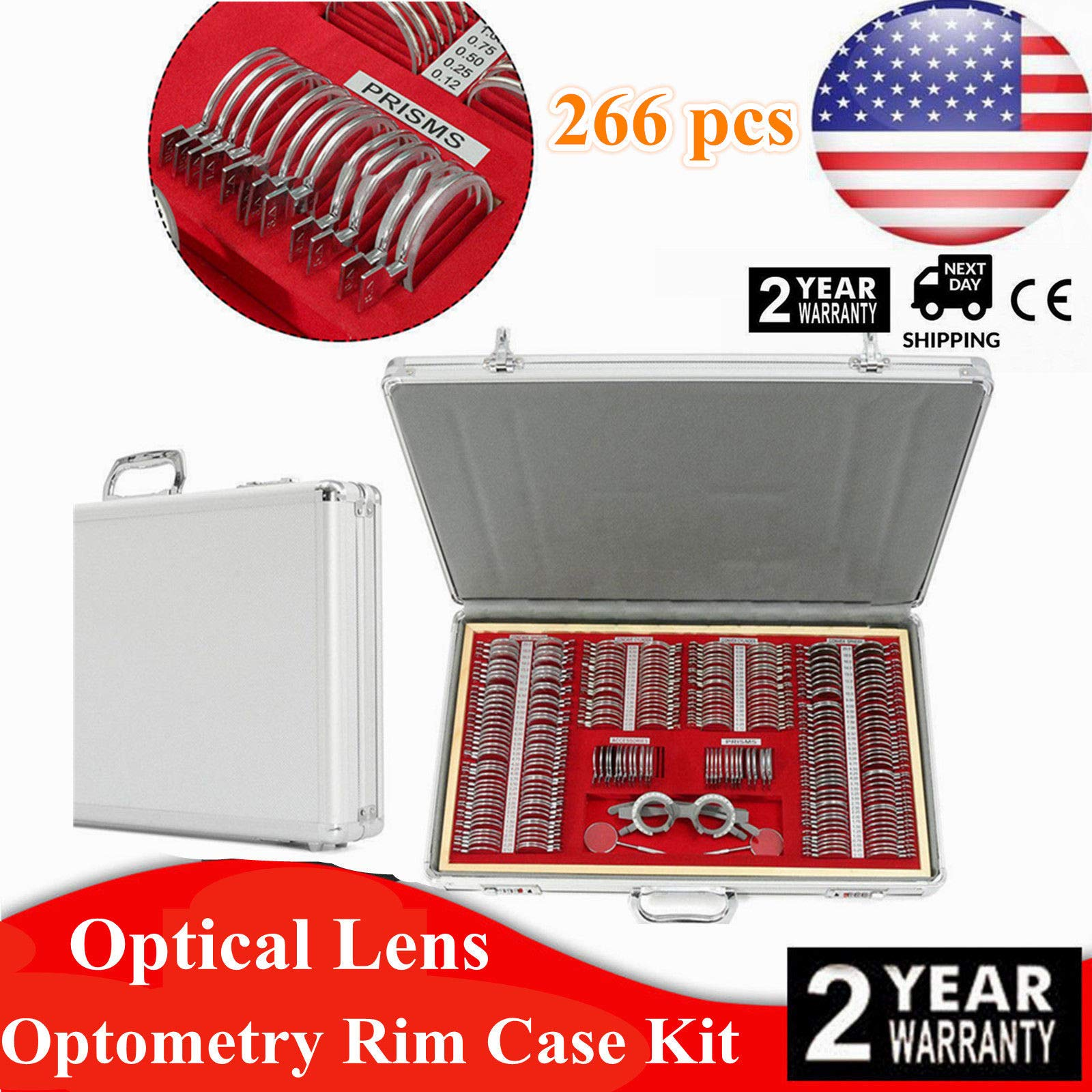 Eye Protection Accessories Set, 266 Pcs Optical Trial Lens Set Metal Rim Optometry Kit Case + Free Trial Frame (US_Stock) by GDAE10 (Image #8)