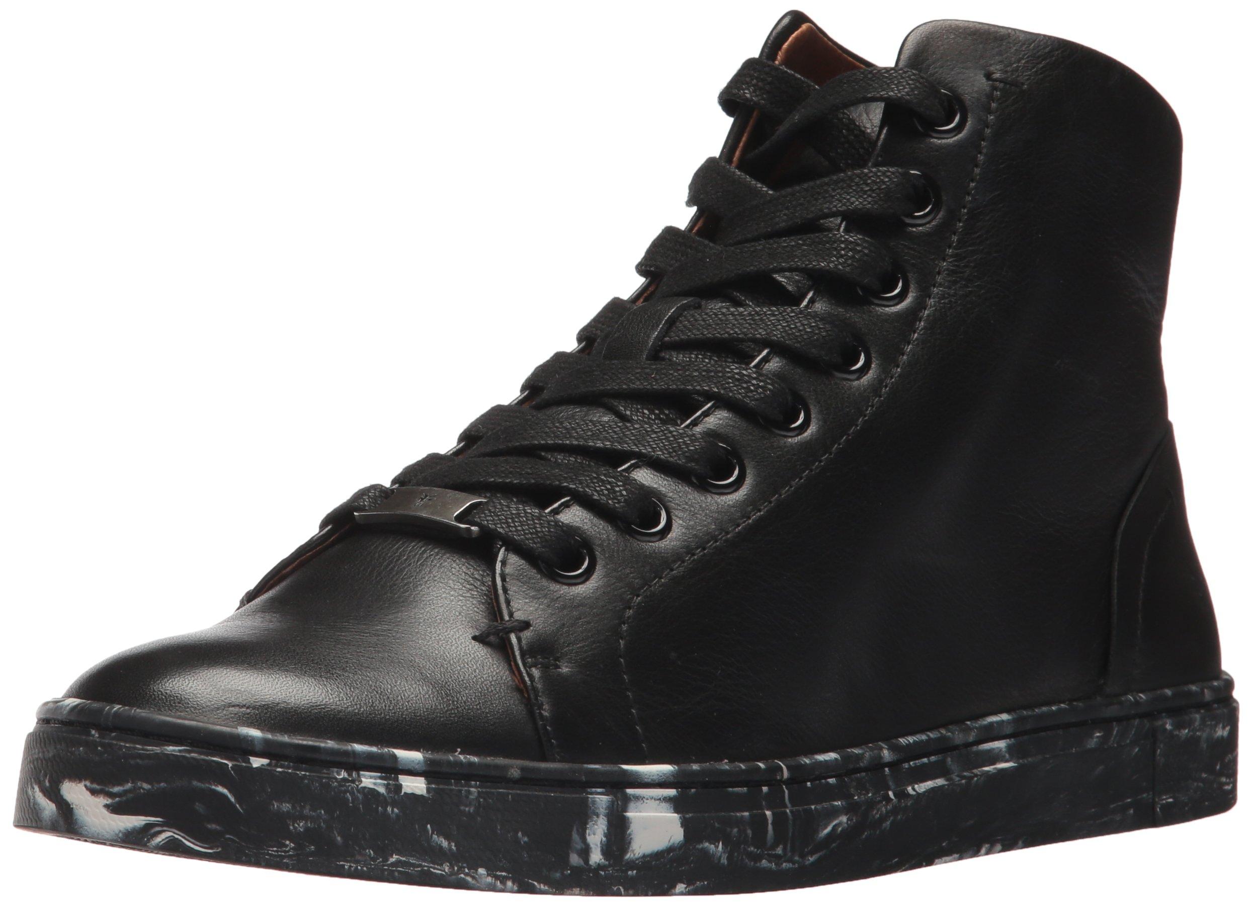 FRYE Women's IVY High Top Sneaker, Black, 9 M US