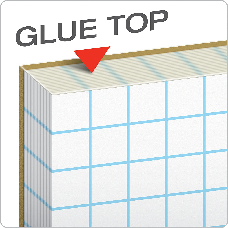 1 White 11 x 17 Ampad Quadrille Pad 5 Pads Per Pack 50-Sheet Pad