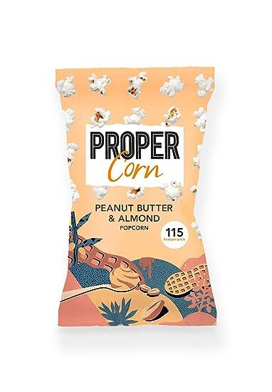 Smooth Peanut & Almond Popcorn 24 x 20g