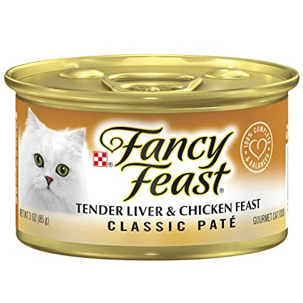 New Fancy Feast White Label Chicken Heart And Liver Cat Supplies 85gm