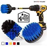 Holikme Drill Brush 4 Pack Blue Cleaning Brush