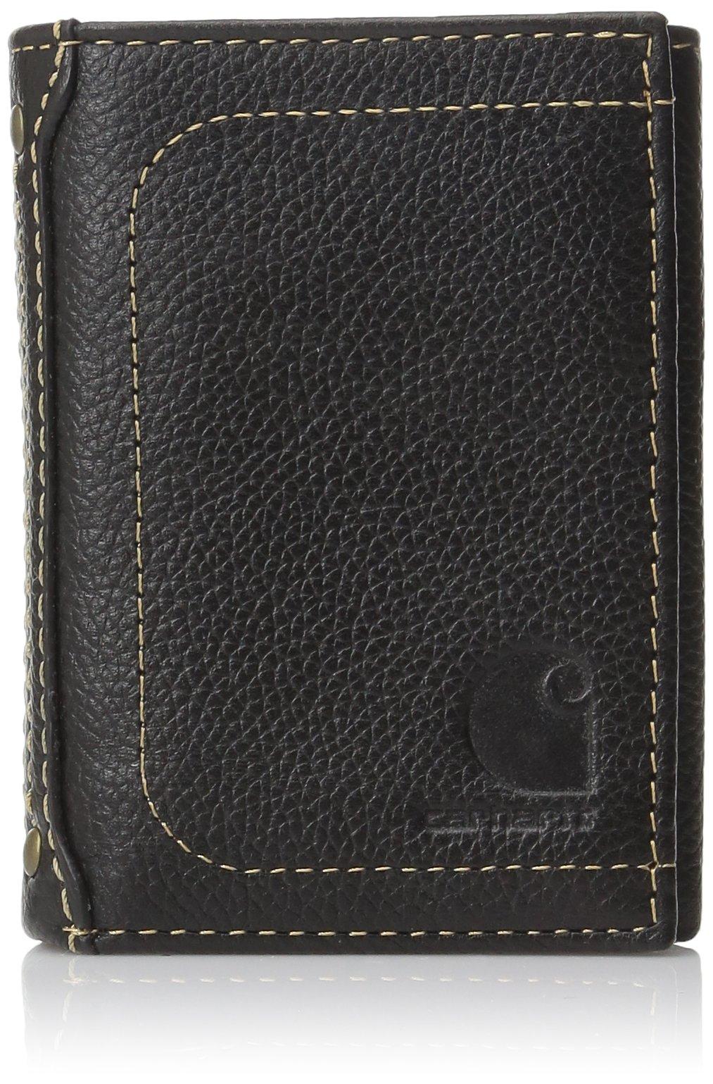 Carhartt Men's Trifold Wallet,Black,One Size