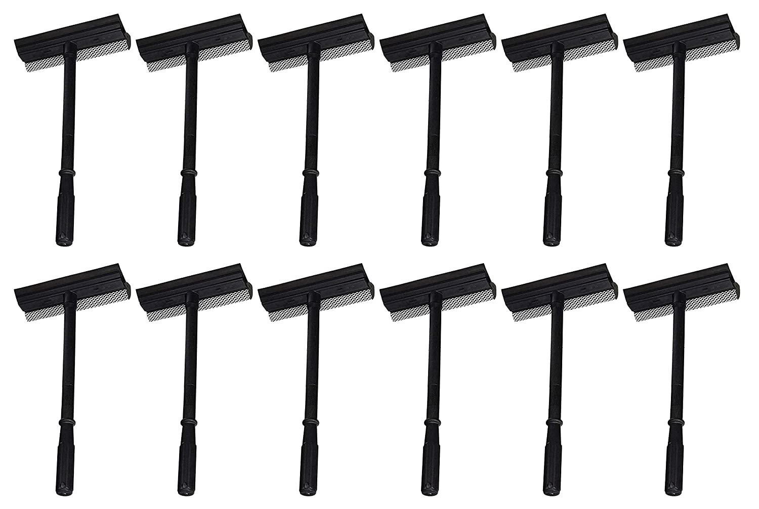 3 Pack of Black Duck Brand Window and Windshield Cleaning Sponge and Rubber Squeegee (Set of 12) 12106