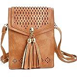 HuaYang sac à main bandoulière pour téléphone portable cuir PU bourse pochette épaule: Amazon.fr