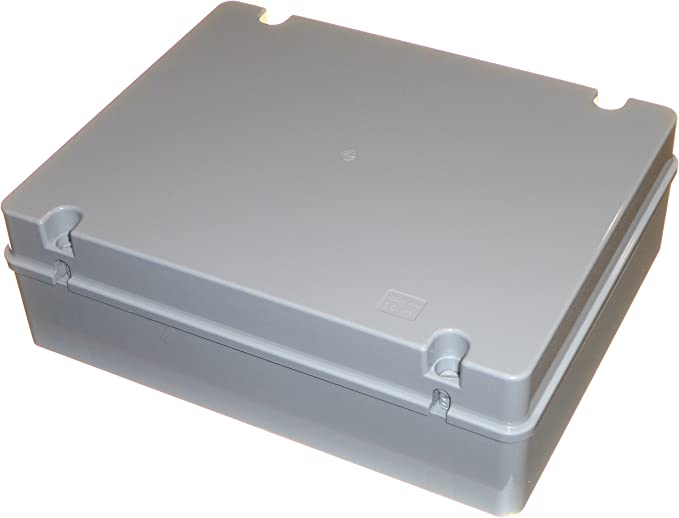 380 mm x 300 mm x 120 mm grande caja de derivación IP56 Resistente a la intemperie caja impermeable con Plain lados: Amazon.es: Bricolaje y herramientas