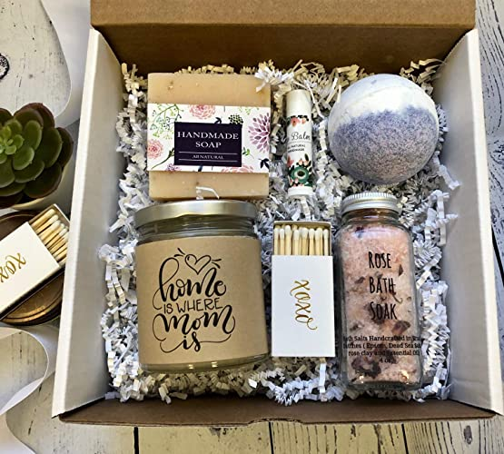Home Is Where Mom Is Mother S Day Gift Daughter Sister Spa Gift Set Birthday Get Well Encouragement Candle Soap Bath Bomb Gift