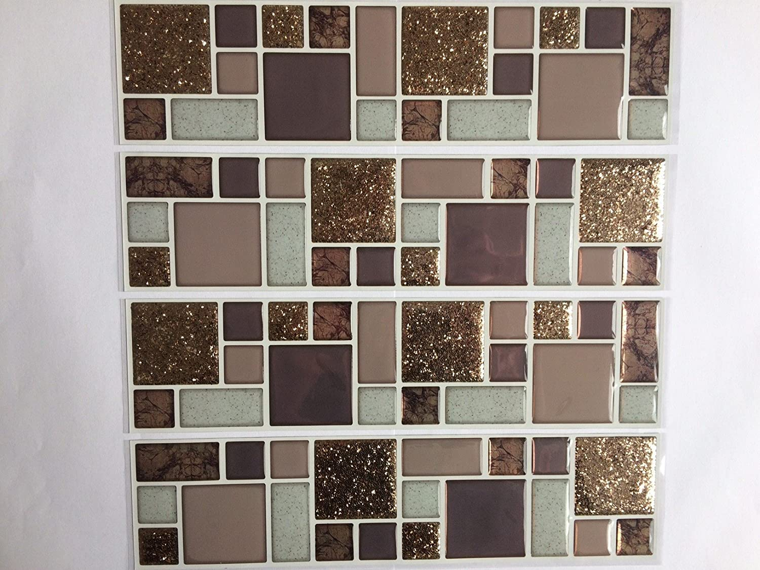 Piastrelle bagno mosaico marrone latest ecopelle marrone for Mosaico adesivo per cucina