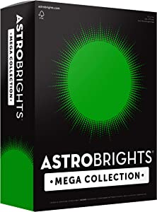 "Astrobrights Mega Collection, Colored Cardstock, Ultra Green, 320 Sheets, 65 lb/176 gsm, 8.5"" x 11"" - MORE SHEETS! (91678)"