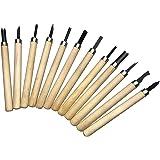彫刻刀 木彫り 木工 彫刻 伝統工芸 版画 篆刻木工道具 プラケース付き 12本 セット
