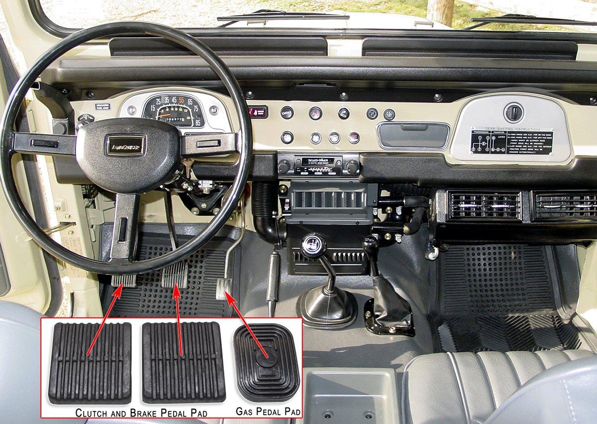 Pedal Y Capucha Kit de almohadillas para Land Cruiser FJ40 & bj40 serie - 1979 a 1984: Amazon.es: Coche y moto