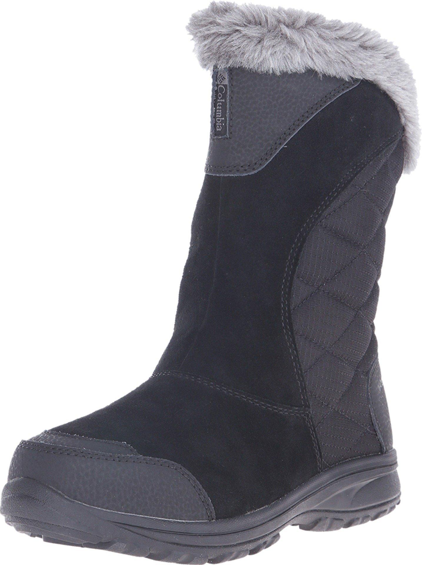 Columbia Women's Ice Maiden Ii Slip Snow Boot, Black, Shale, 8 B US