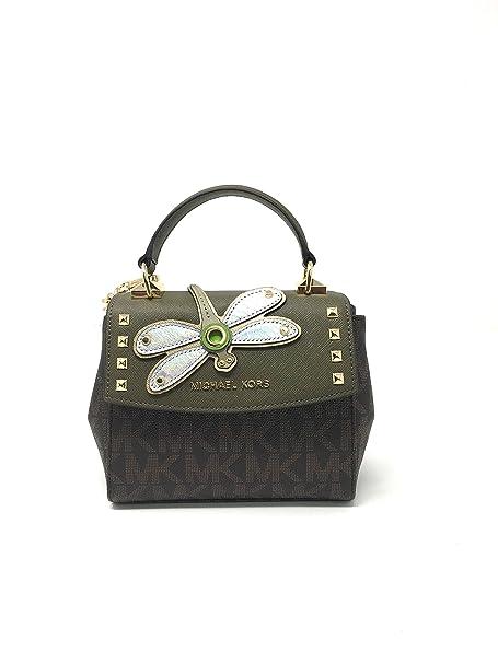 1edf3bb44c4bc4 Michael Kors Karal Mini CONY TH Crossbody in BRN/OLIVE: Amazon.ca: Shoes &  Handbags