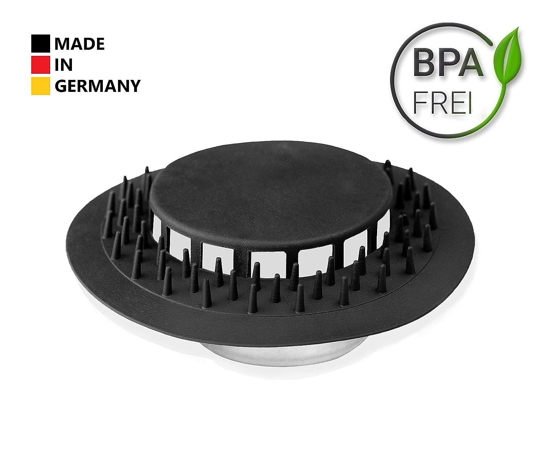 tambi/én se adapta a Viega Tempoplex Fabricado en Alemania Abfluss UFO Juego de 4 piezas 80 mm Cedazo de descarga de silicona