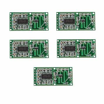 BAJIAN-LI 5PCS RCWL-0516 radar de microondas Módulo del sensor de movimiento del