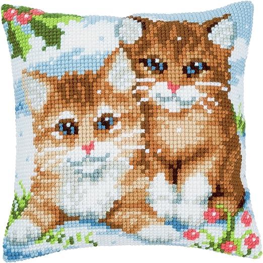 PN-0145585 Kittens Vervaco Cross Stitch Cushion