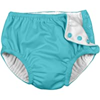 IjnUhb Swim Diapers Baby Reusable 2 Pack Washable Pants for 0-3 Years Boys Girls Swimming Lesson Shower Gifts(GreenBlue 6 Months)