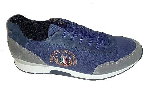 f24ea179bd Aeronautica Militare Scarpe Sneakers SC154CT 90643 Grigio/Blu Navy ...