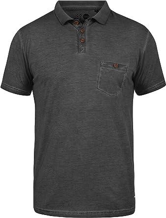 Solid Termann Camiseta Polo De Manga Corta para Hombre con Cuello ...