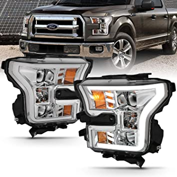 Fit 2015 2016 2017 Ford F150 F-150 Clear Halogen Type Headlights Replacement