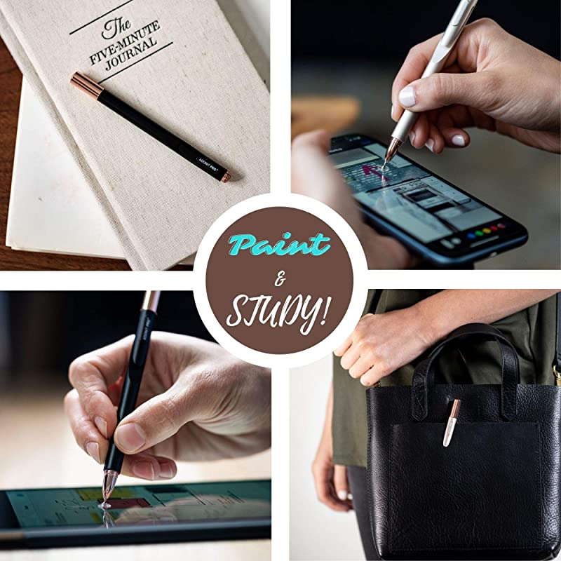 Adonit Pro 4 (Black) Luxury Capacitive Stylus Pen, High Sensitivity Fine Point and Precision,Stylus for iPad, Air, Mini