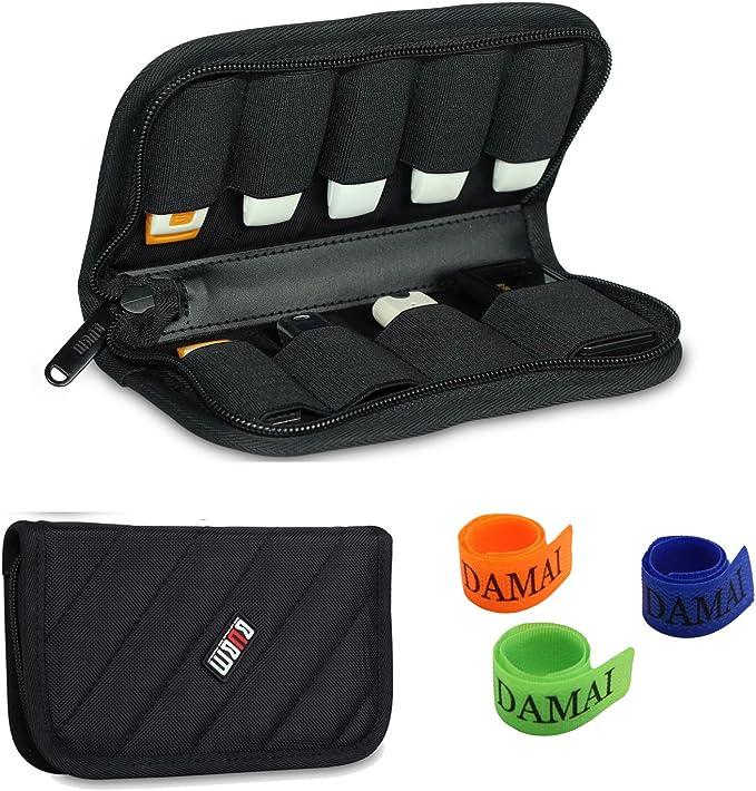 BUBM Estuche con 9 Capacidad para Caben USB (Negro): Amazon.es: Electrónica