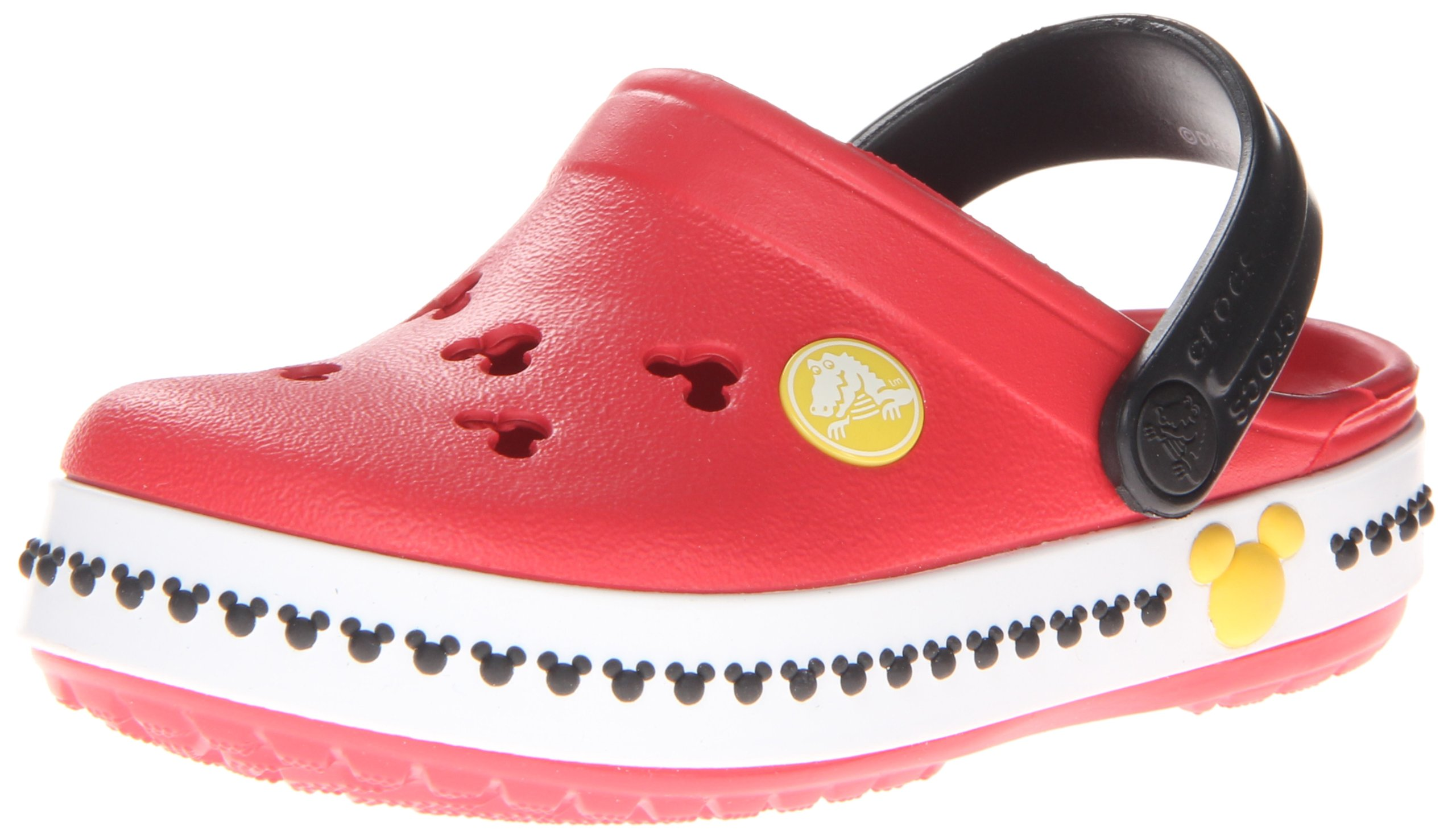 crocs 14609 CB Mickey 3 Clog (Toddler/Little Kid),Red/Black,4 M US Toddler