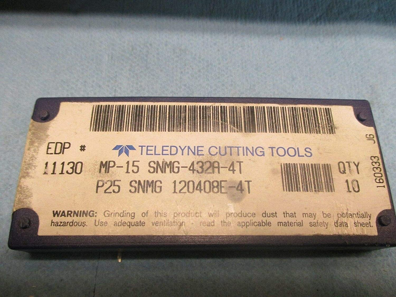 5 PCS TELEDYNE CUTTING TOOLS SNMG 432 A 4T P25 120408E INSERTS MACHINE SHOP
