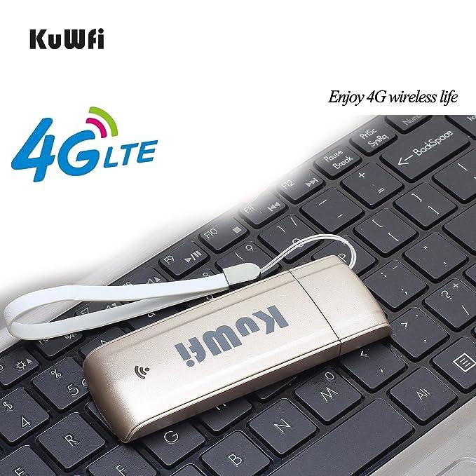 KuWFi 4G Dongle, 100Mbps Unlocked Mini LTE USB WiFi: Amazon in