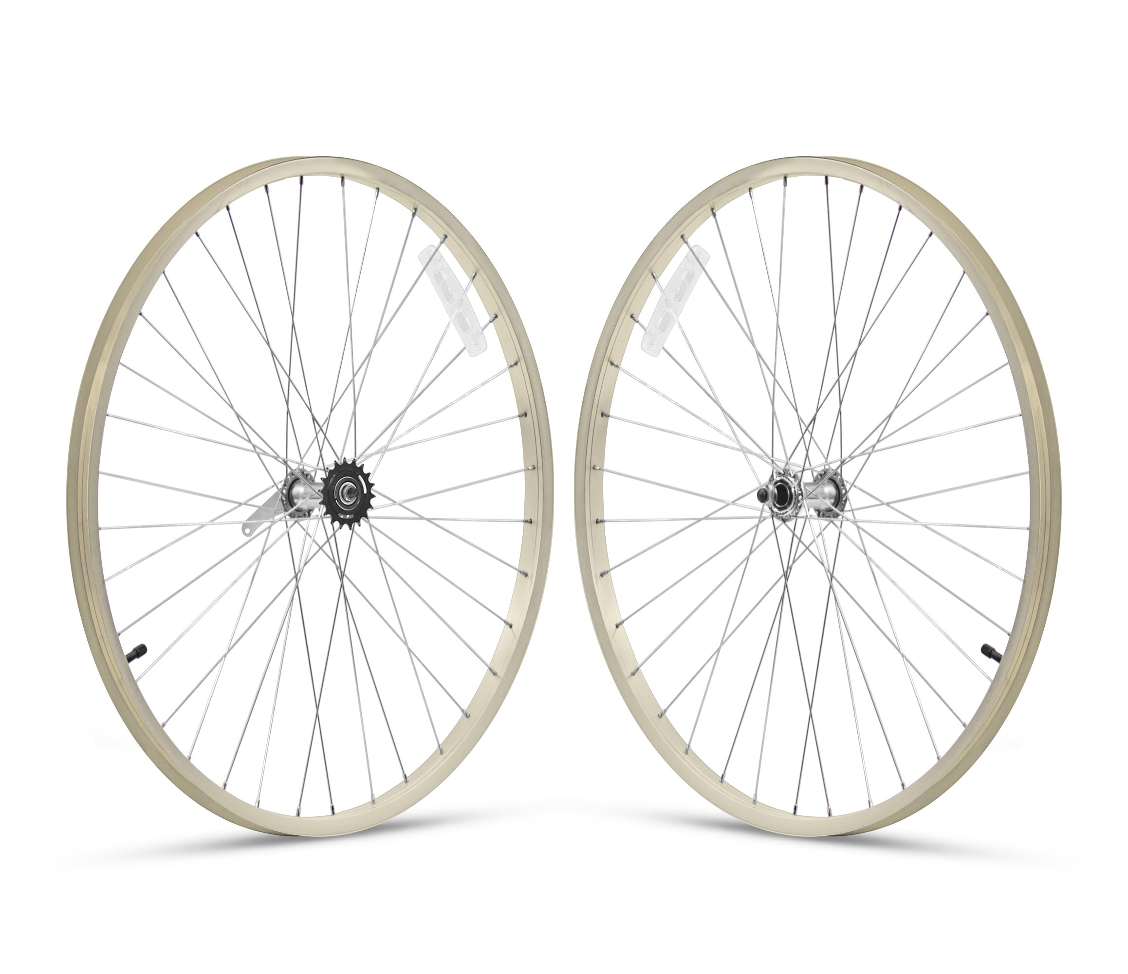 Firmstrong 1-Speed Beach Cruiser Bicycle Wheelset, Front/Rear, Vanilla, 26''