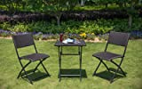 SunLife Bistro Sets, Outdoor Folding Table with