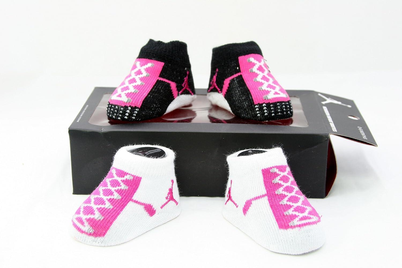 9555495627e460 Nike Air Jordan Newborn Infant Baby Booties Socks w Air Jordan Logo Size  0-6 Months  Amazon.ca  Tools   Home Improvement