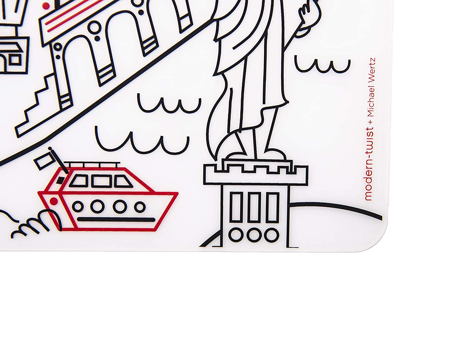 modern-twist Waterproof Silicone Kids Washable Coloring Placemat, Mark-Mat,  New York