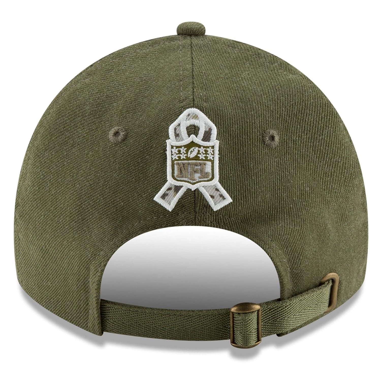 10b3156e780fe Amazon.com  New Era Authentic Dallas Cowboys 2018 Salute to Service Sideline  9TWENTY Adjustable Hat – Olive  OSFM  Clothing