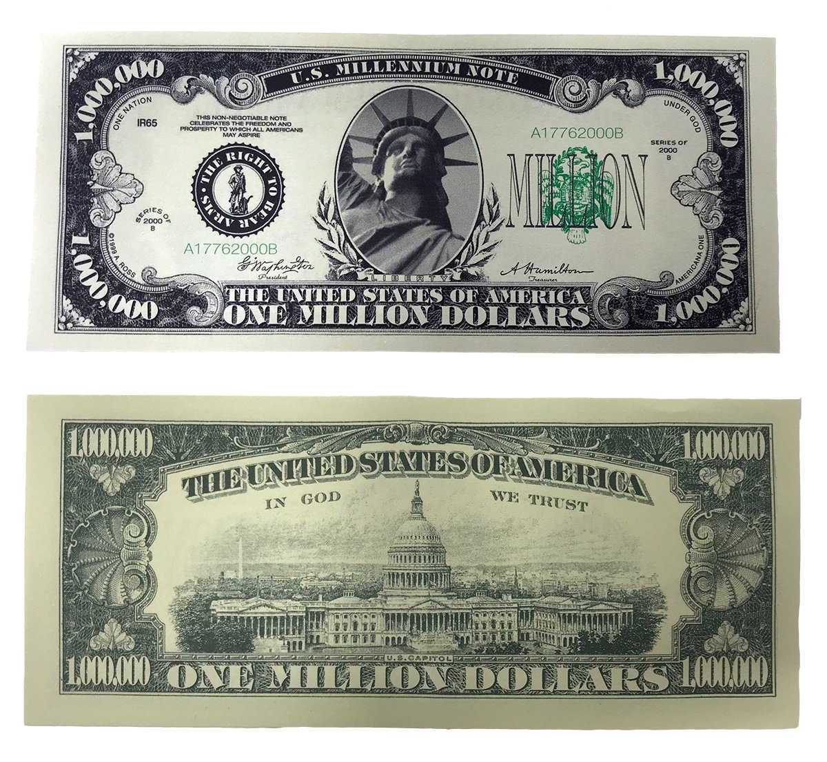 TheGag Million Dollar Bills- 100 Bills Very Realistic Looking Prop Money Copy -Educational Product-Play Money-Millones De Billetes Dinero Falso by TheGag