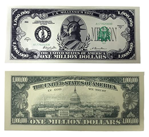 Amazon Com Themillion Dollar Bills 100 Bills Very Realistic Lo Ng Prop Money Copy Educational Product Play Money Millones De Billetes Dinero Falso