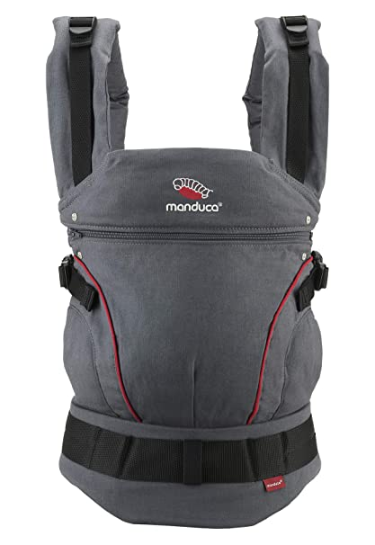 manduca First Special Edition 2018 > Hemp Cotton Grey/Red < portabebés con ergonómicas Cinturón & Espalda patentado garantía/vientre cadera y la espalda ...