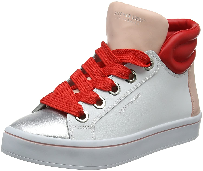 Skechers Damen Hi-Lites-Block Poppers Hohe (Weiß) Sneaker Weiß (Weiß) Hohe  04eb1d df32ba9978