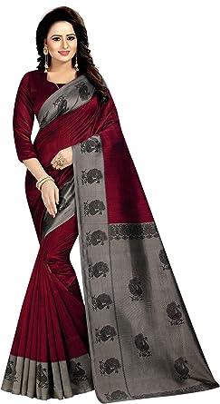 Craftstribe Chiffon Stone Work Sari Indian Wedding Bollywood Navy Blue Saree for Women