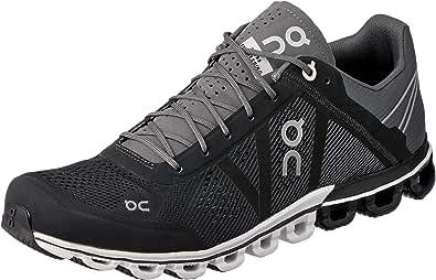 ON Men's Cloudflow Running Shoes, Black/Asphalt