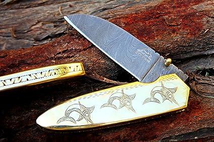 Amazon.com: dkc-76 Marlin Fish latón Damasco de bolsillo ...