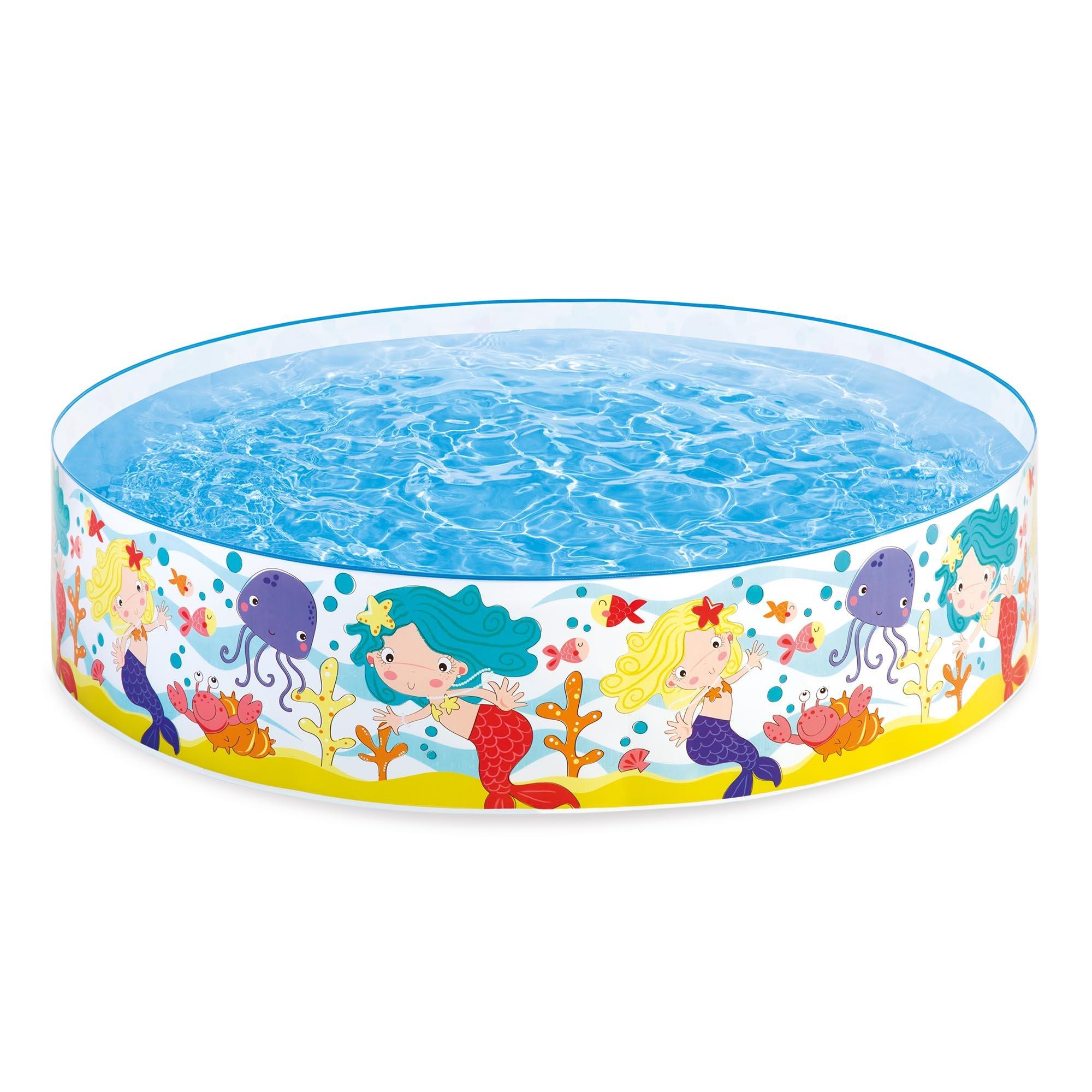 Intex Mermaids by The Sea Kids 6' x 15'' Instant Kiddie SnapSet Swimming Pool