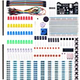 Elegoo EL-CK-002 Electronic Fun Kit Bundle with Breadboard Cable Resistor, Capacitor, LED, Potentiometer (235 Items)