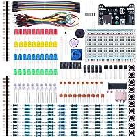 Elegoo Electronic Fun Kit Breadboard Kabel Widerstand Kondensator LED Potentiometer für Arduino Learning Kit, UNO, MEGA2560 Arduino Electronic Kit