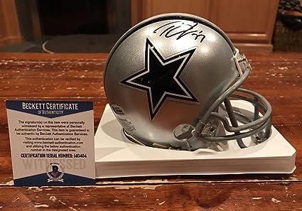 58b3f7e92 Signed Tyron Smith Mini Helmet - Witness Beckett - Beckett Authentication -  Autographed NFL Mini Helmets