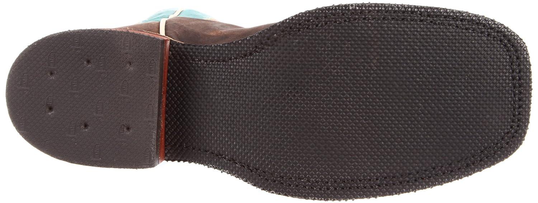 Justin Boots Women's Square-toe Bent Rail Boot B006M7KIGG 6.5 B(M) US|Choco Puma/Am Blue Cwhd