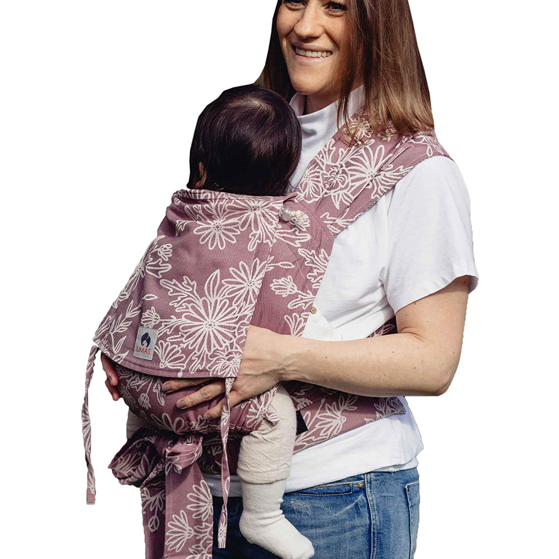 LIMAS Babytrage Halfbuckle 50-86 cm ab Geburt bis Kleinkindalter Blossom Green Lily Bauchtrage /& R/ückentrage /& H/üfttrage Baby Carrier